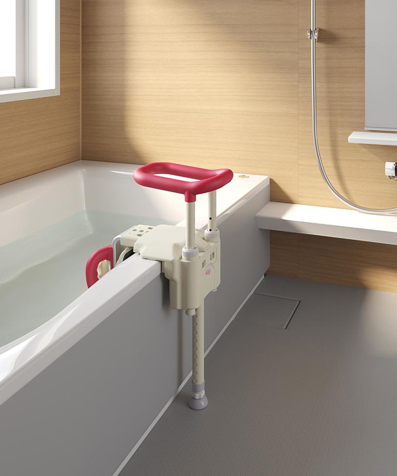 ユニットバス対応浴槽用手すり <font color=
